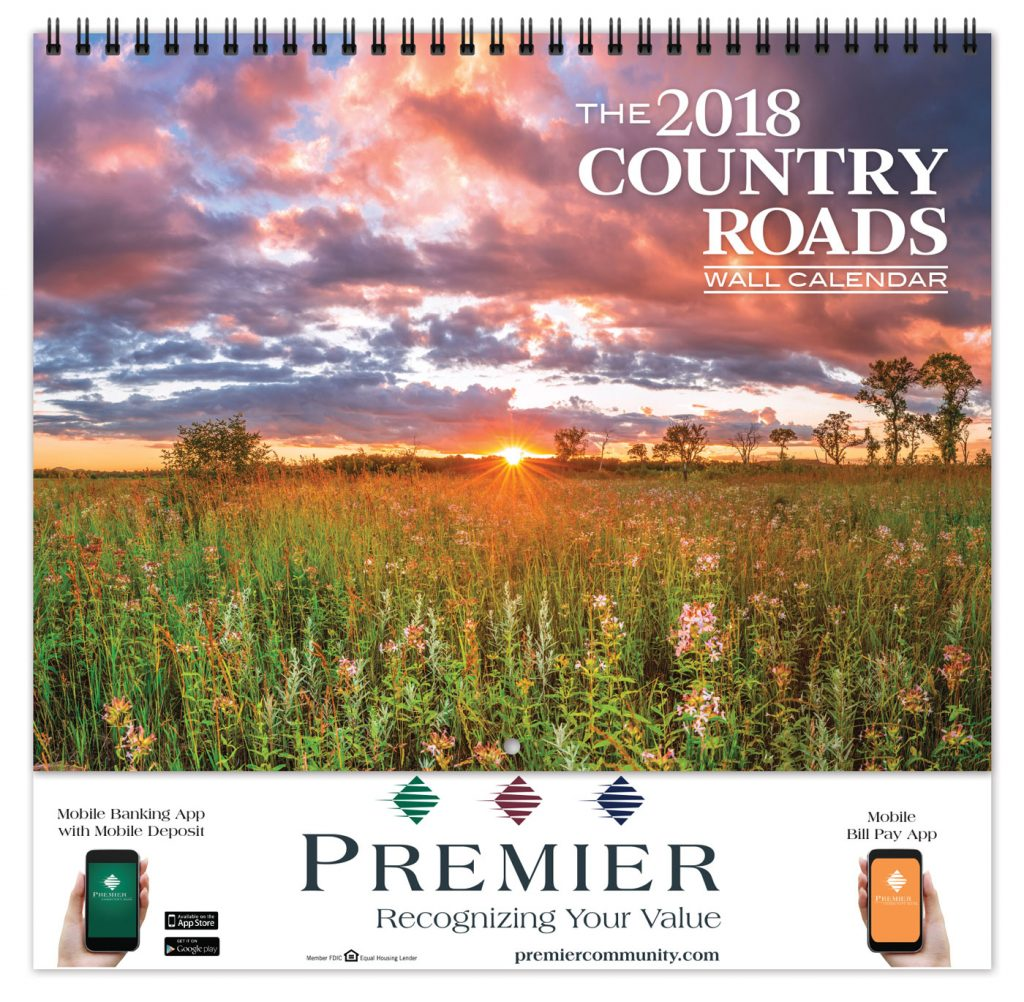 country roads promotional calendar