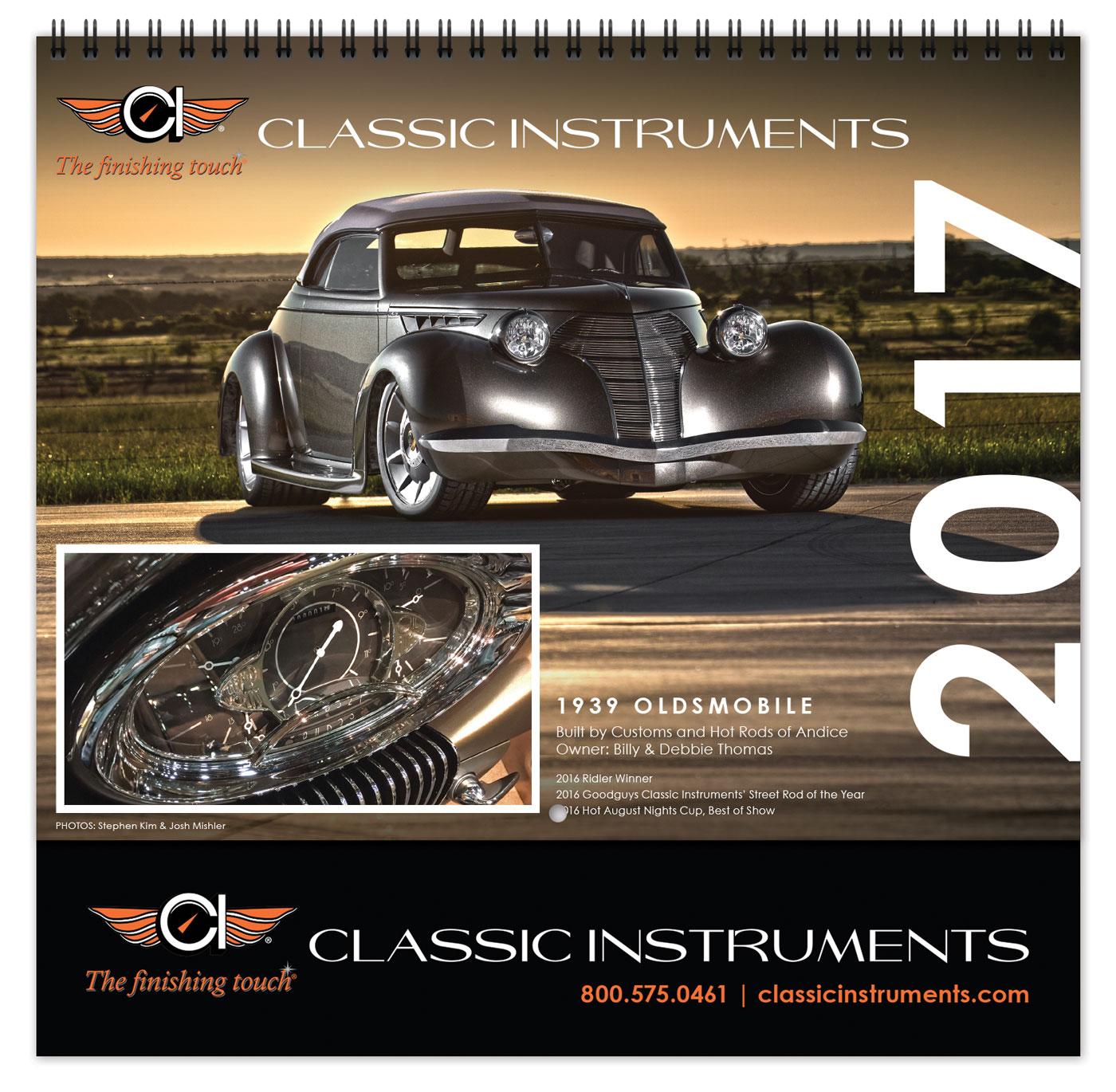 classic instruments custom calendar