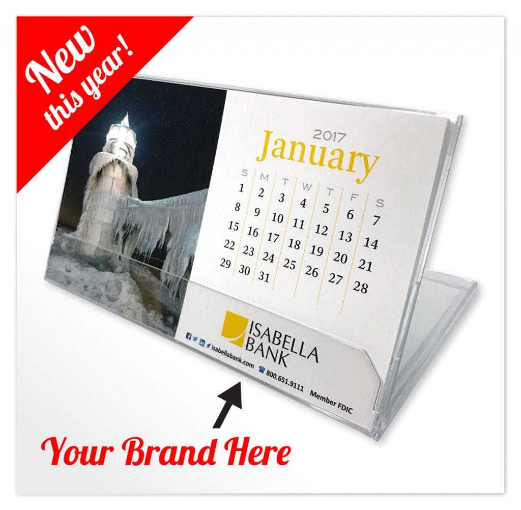 branded desktop calendar
