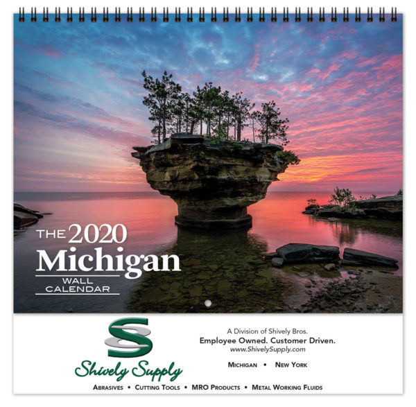 Michigan Calendar 2020 2020 Michigan Promotional Calendar | Farley Calendar Company